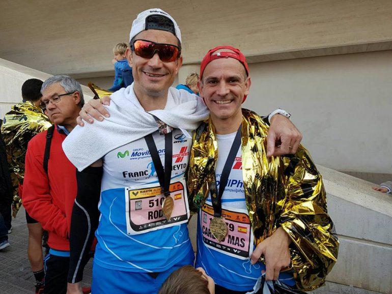 Rodri Camino y Carlos Más en la Maratón de Valencia