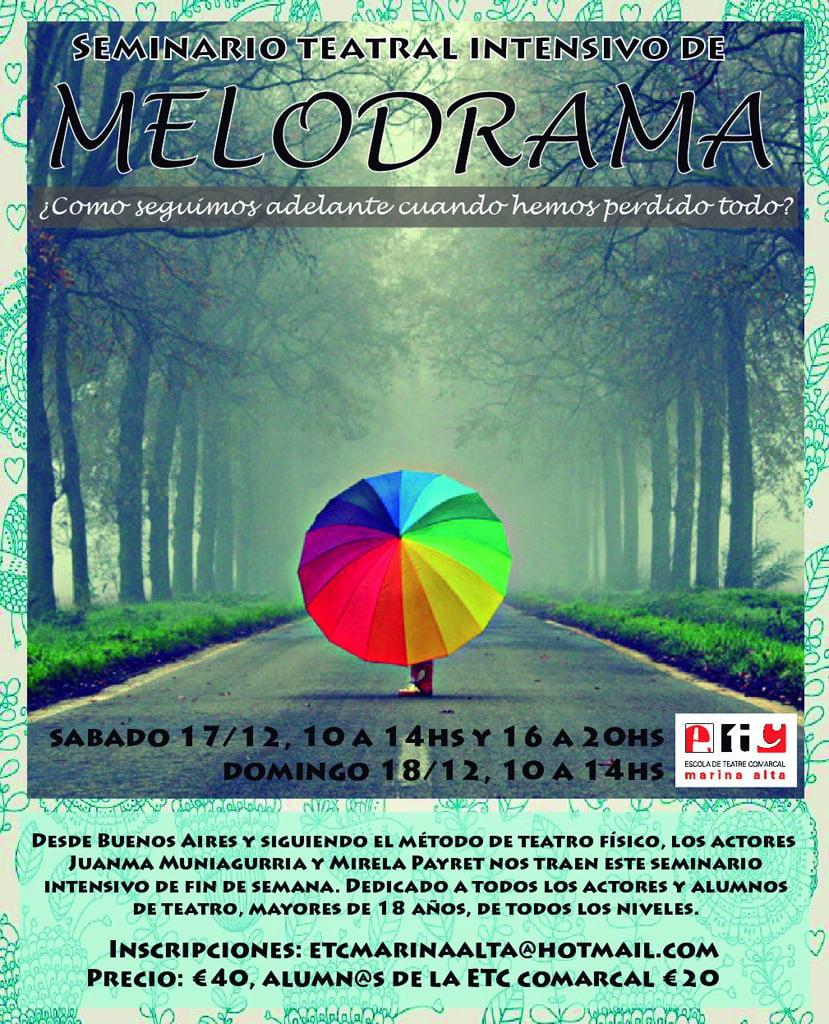 Seminario intensivo de melodrama en Dénia