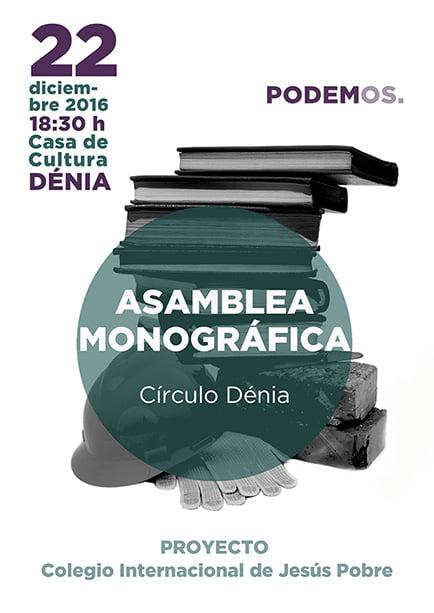 Asamblea monográfica Podemos Dénia