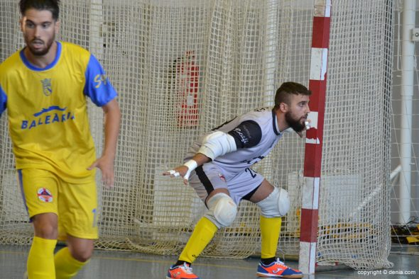 César portero del Dénia Futsal