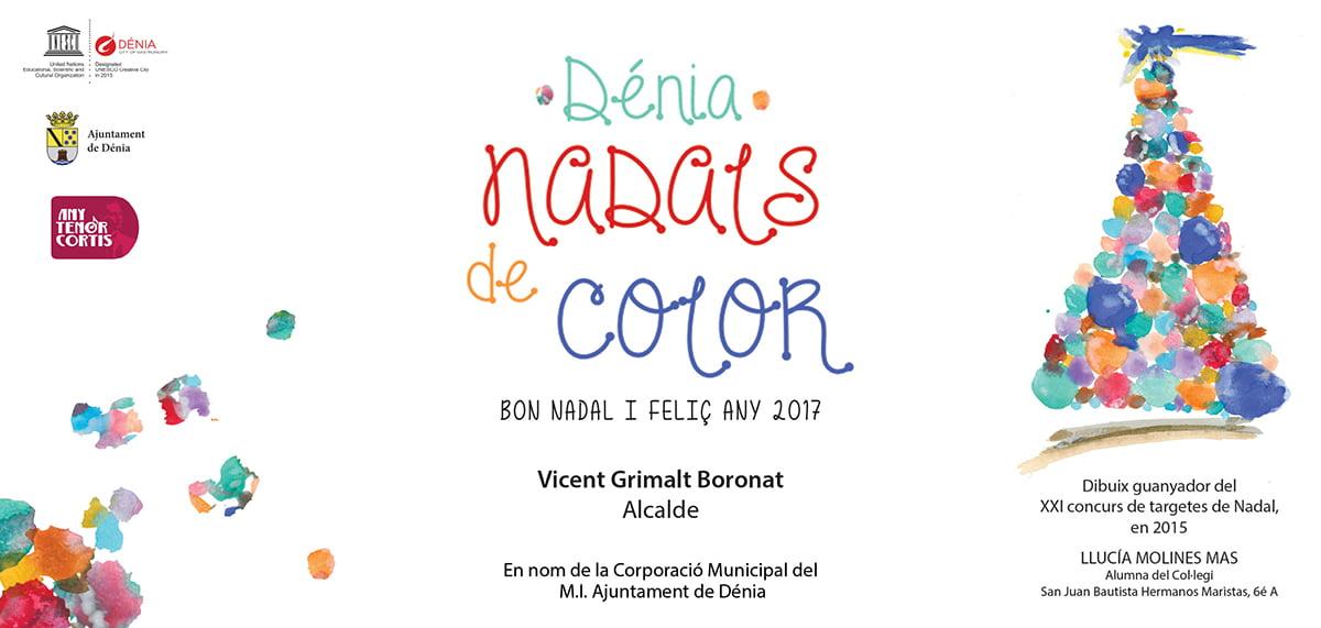 Felicitación navideña Ayuntamiento de Dénia 2016