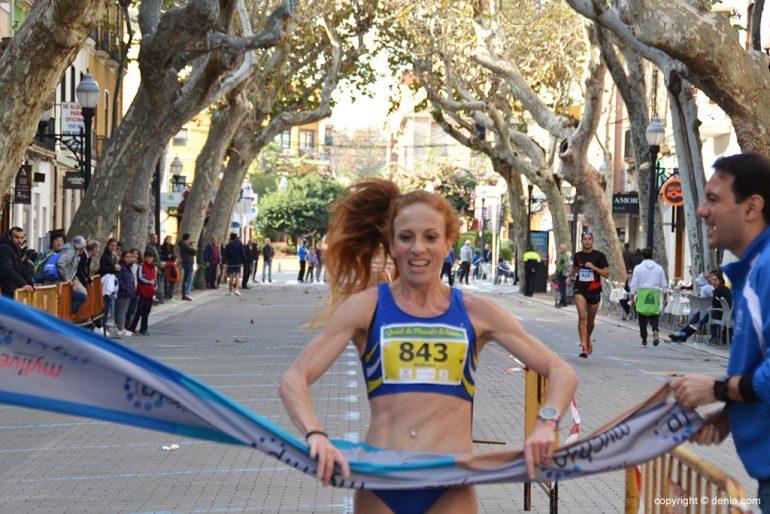 Maite Rodríguez winner of the Fourth Marathon