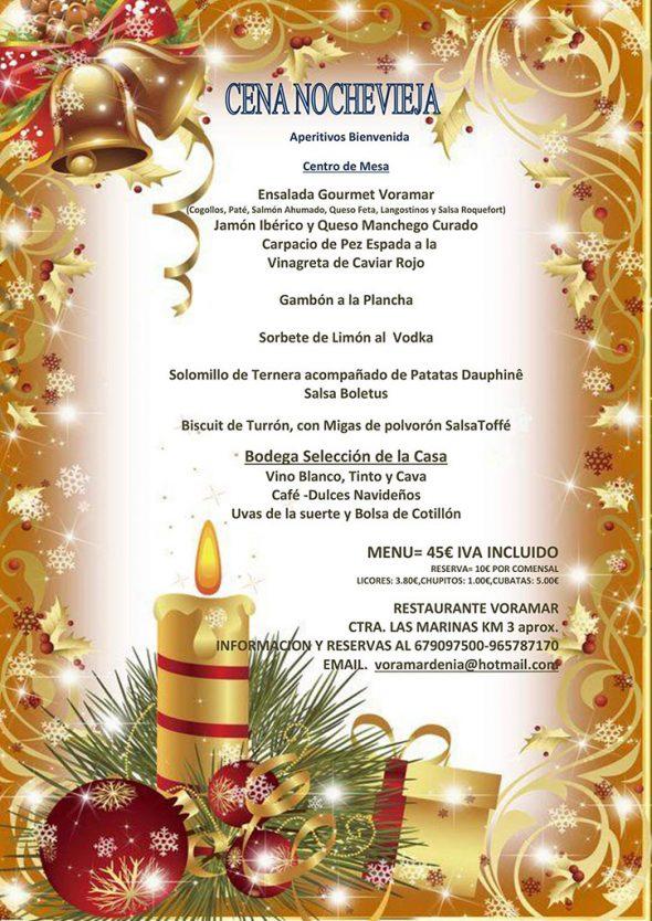 New Year's Eve menu in Voramar