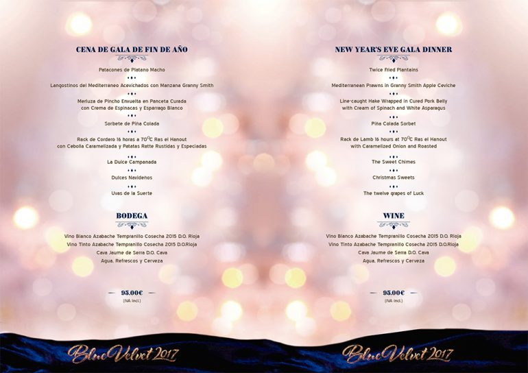 New Year's Eve menus 2016 in Ona Ogisaka Garden