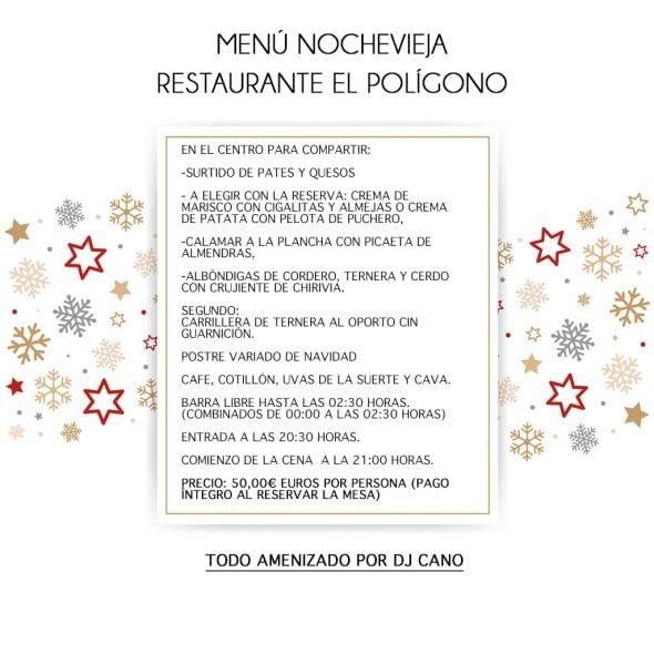 Poligono New Year's Eve menu