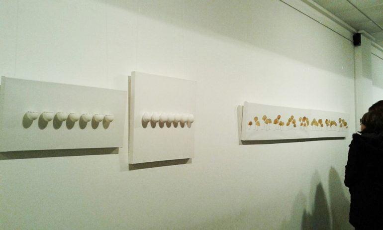 Obras de la exposición Dos Mirades, un mateix Camí.
