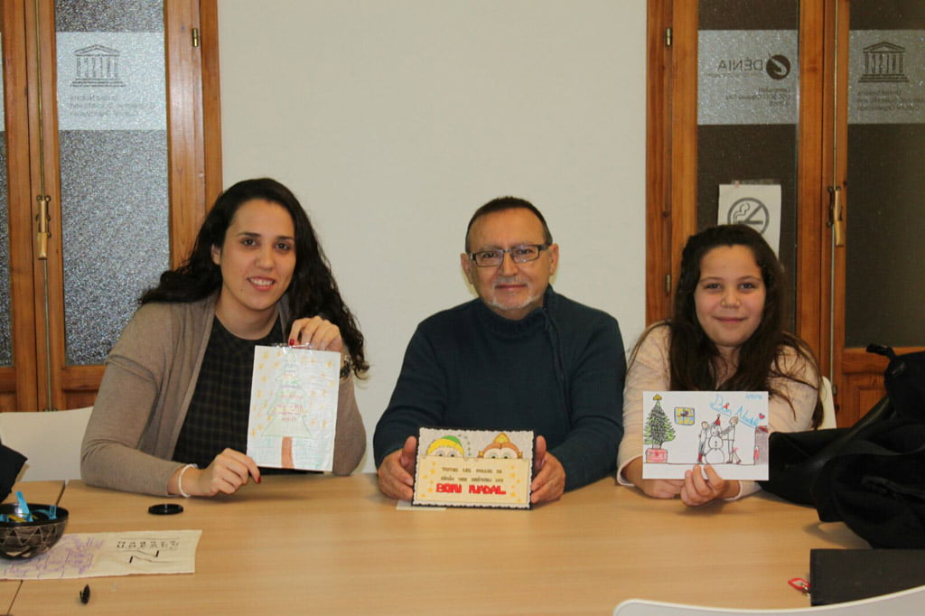 Winning Christmas cards contest of the Local Board Fallera