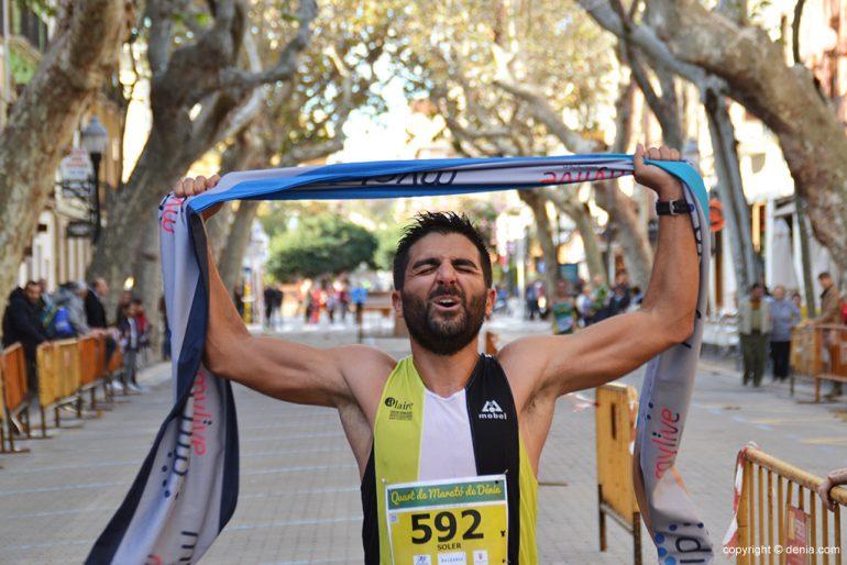 Toni Soler Fourth Marathon winner