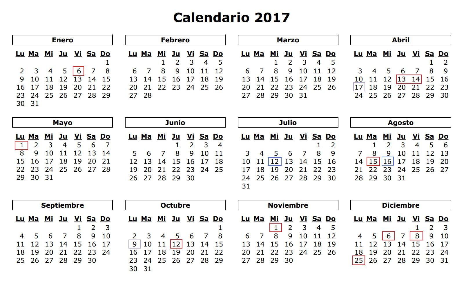 Calendario laboral Dénia 2017