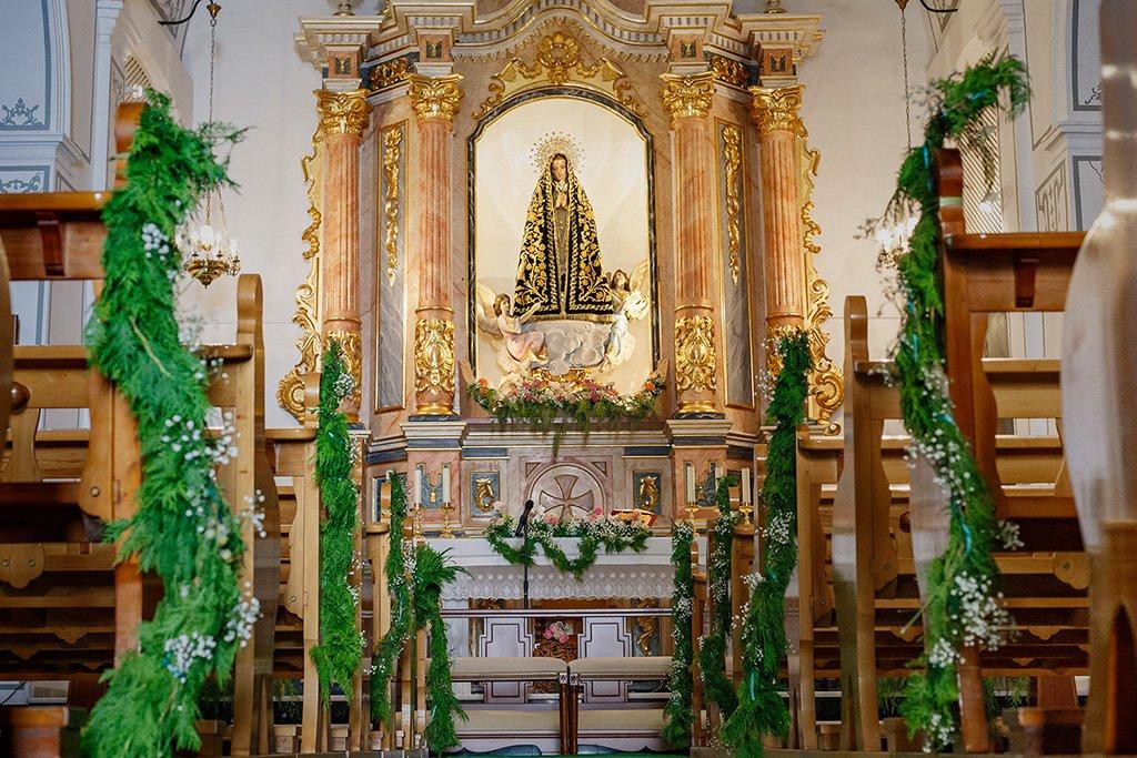 Decoración iglesia Floristería Azahar