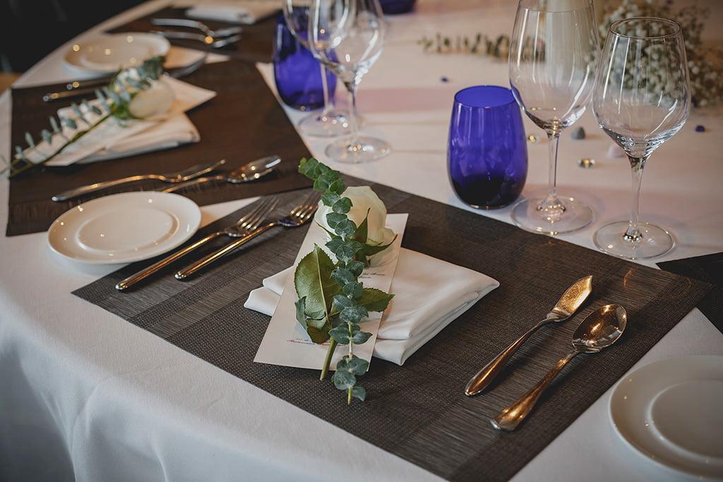 Decoración mesa Floristería Azahar