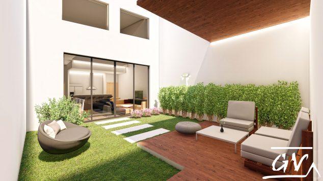 Imagen: Patio trasero de una vivienda en Museros (Valencia), diseñado por GV Arquitecnia