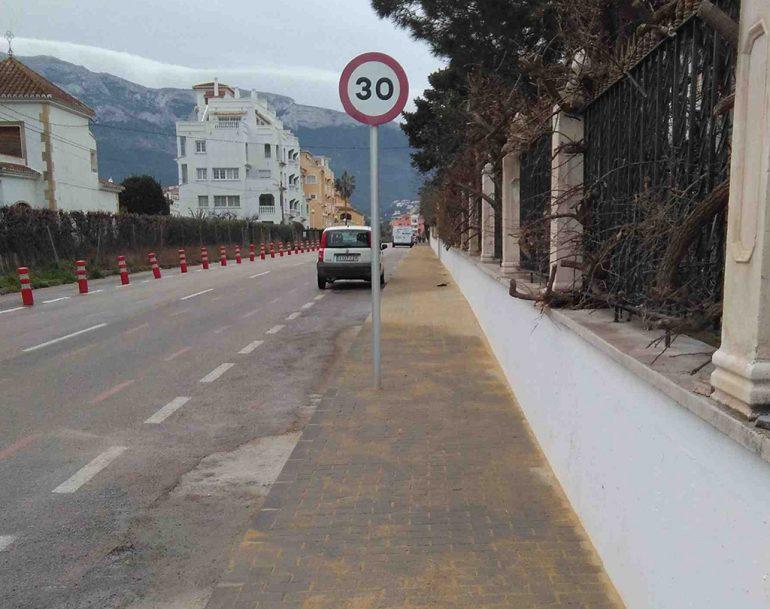 Renovation of sidewalks in Aldebaran street