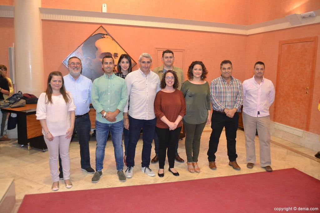 New Local Board Fallera de Dénia - Members of the JLF