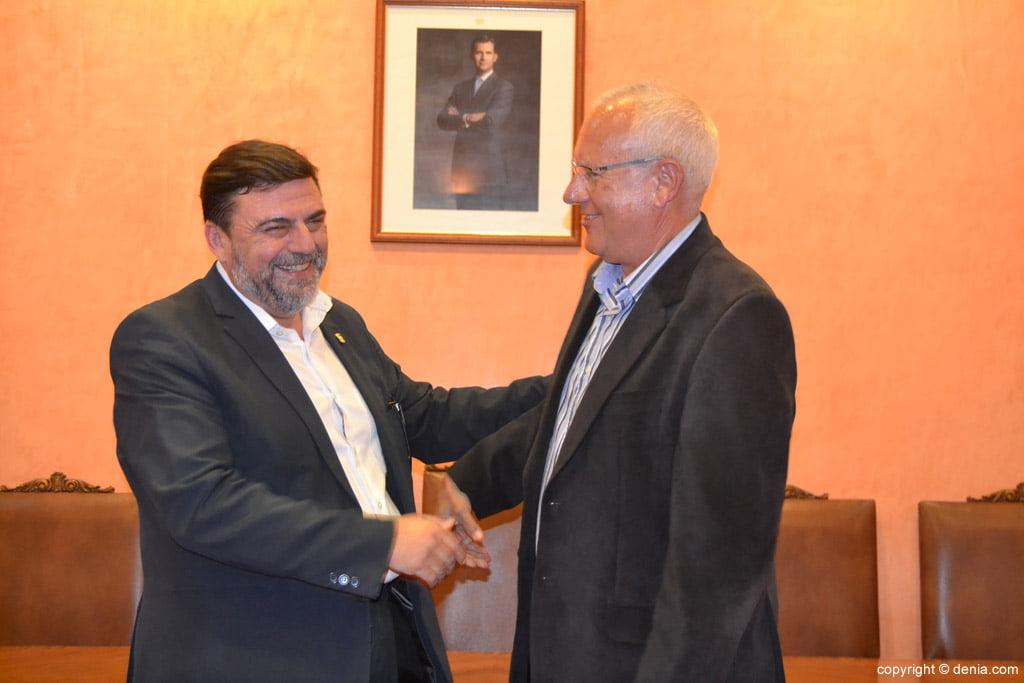 New Fallera Local Board of Denia - José Vicente Benavente and Vicent Grimalt