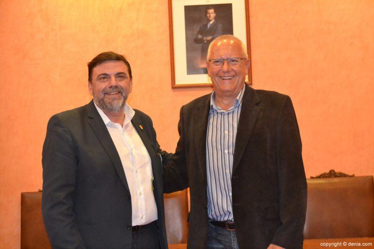 New Local Board Fallera de Dénia - José Vicente Benavente and Vicent Grimalt