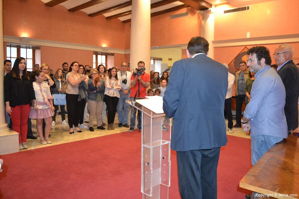 New Local Board Fallera de Dénia - Act in the City Hall