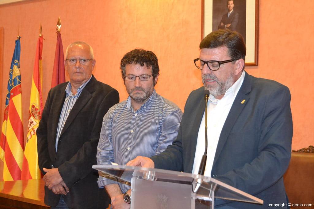 New Fallera Local Board of Denia - Address by José Vicente Benavente