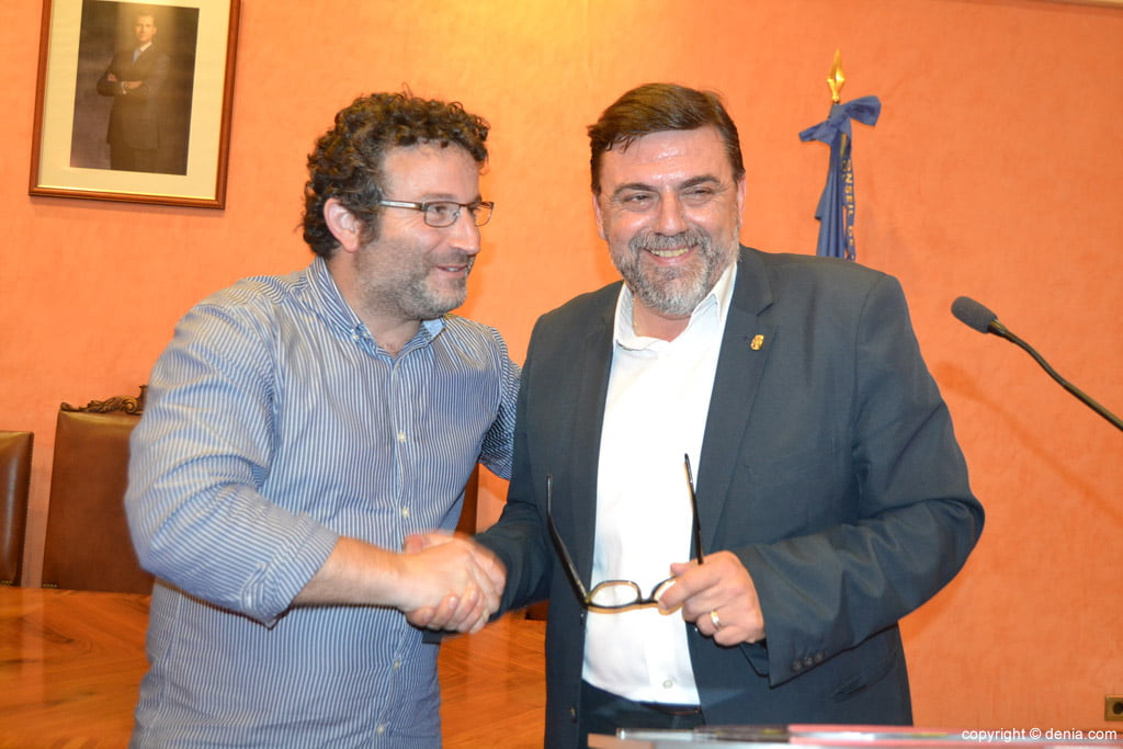 New Local Board Fallera de Dénia - Óscar Mengual and José Vicente Benavente
