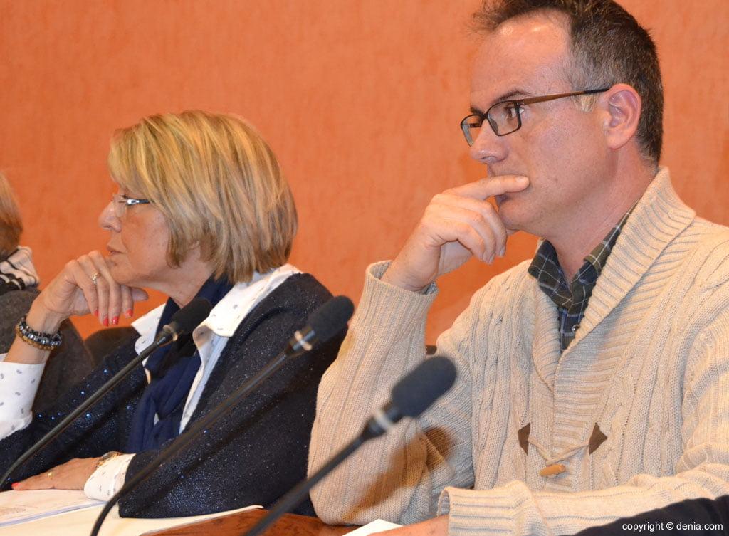 Concejales de Ciudadanos durante un pleno en Dénia