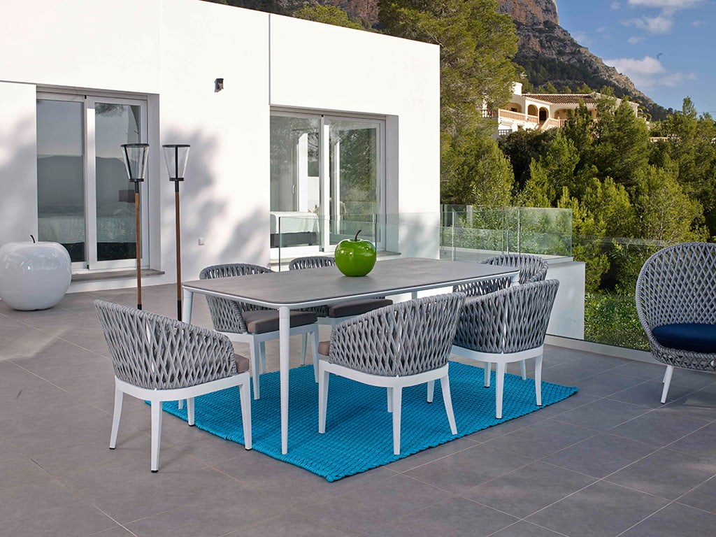Terraza muebles great muebles para exterior muebles para for Terraza rattan pvc