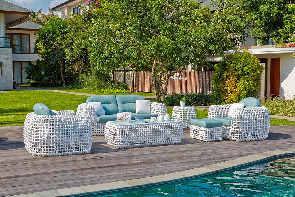 Tresillo dynasty muebles mart nez jardin d for Muebles de rafia para jardin