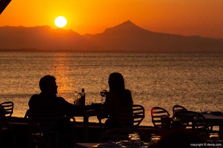 Cena puesta de sol Dénia Restaurant Noguera