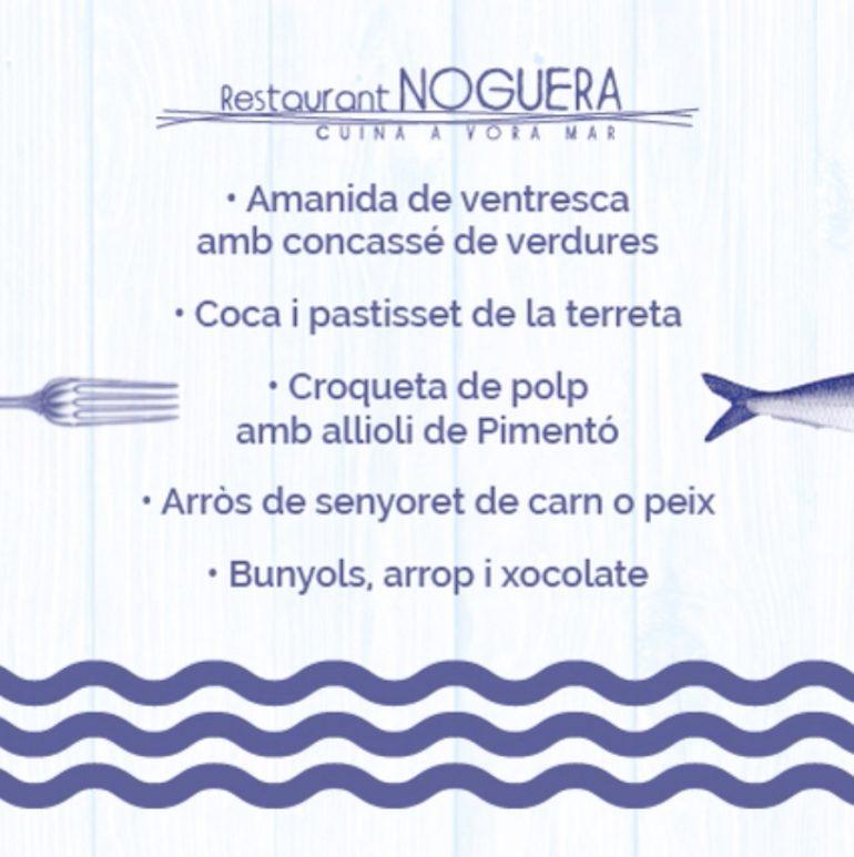 Menú Sant Josep Restaurant Noguera