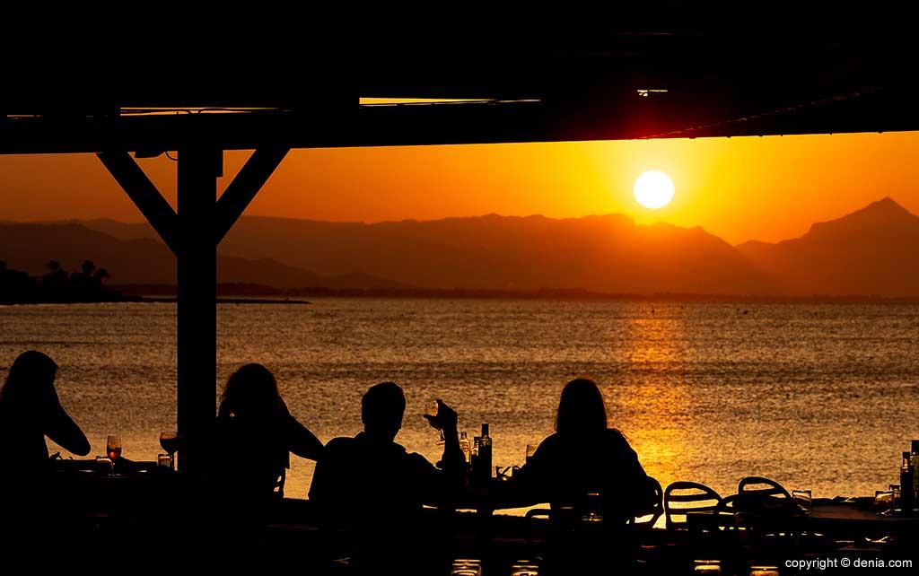 Puesta de sol Dénia Restaurant Noguera