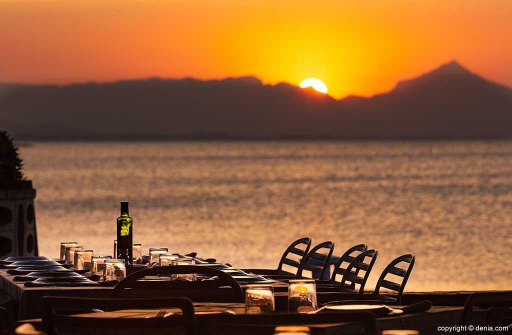 Puesta de sol terraza Restaurant Noguera