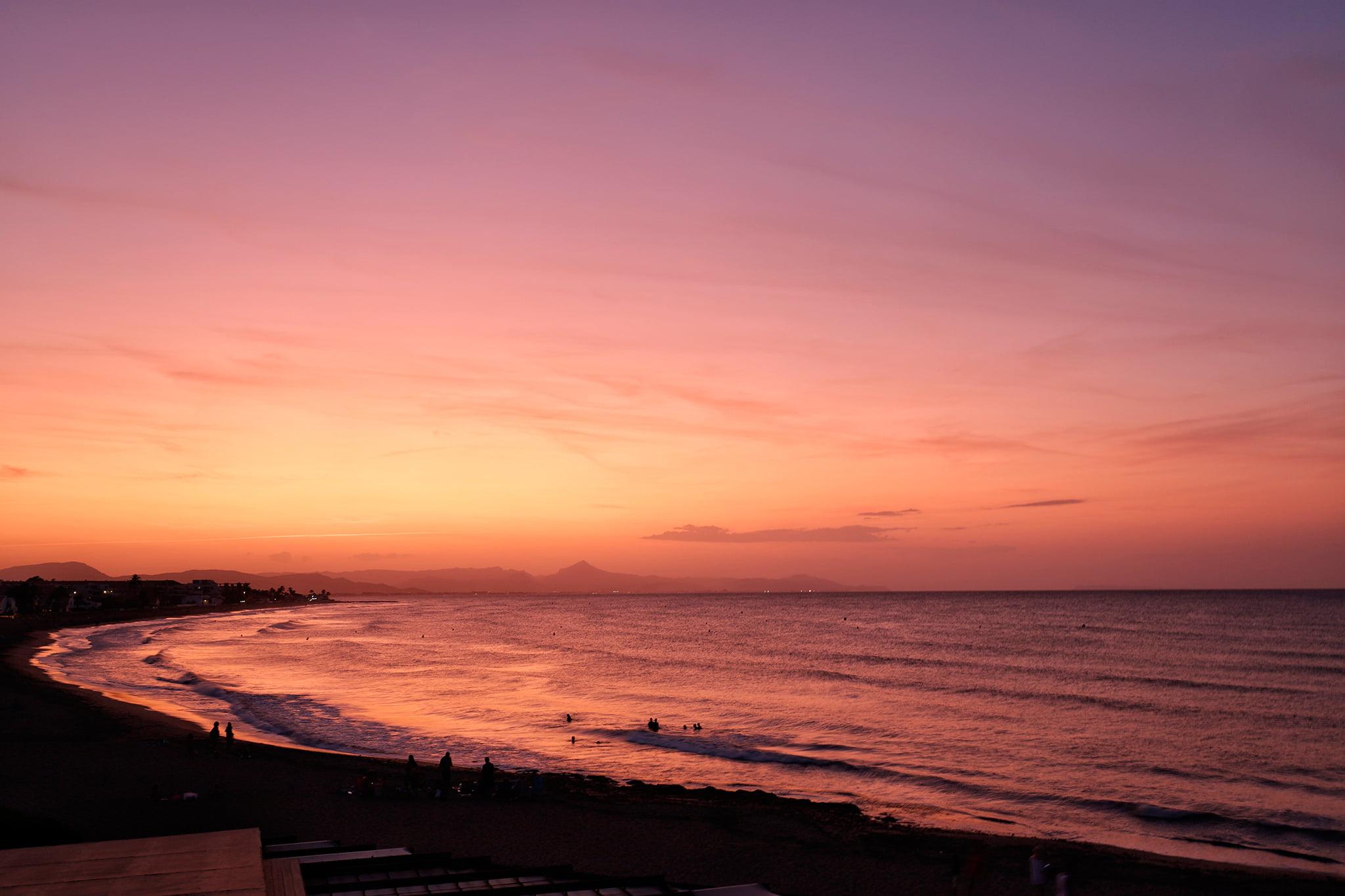 Puesta de sol en Dénia – Restaurant Noguera