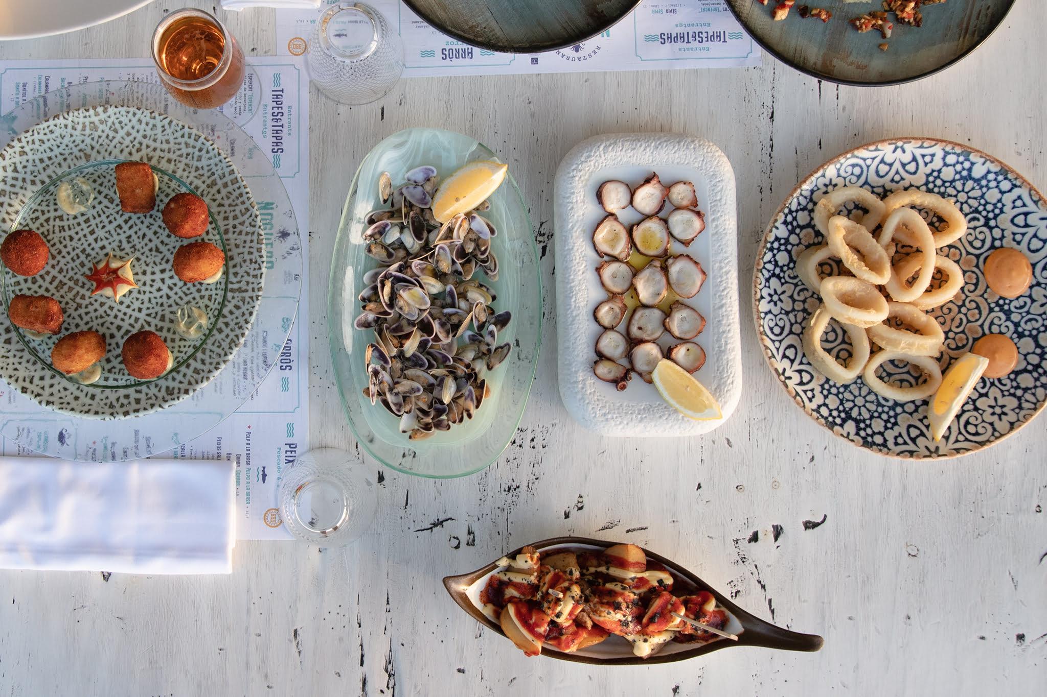 Tellinas, pulpo seco y calamares – Restaurant Noguera