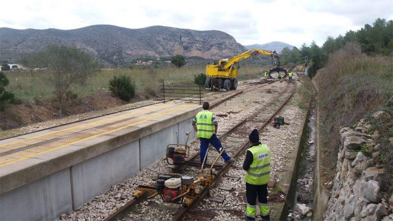 Trabajos de mejora en la línea 9 del TRAM