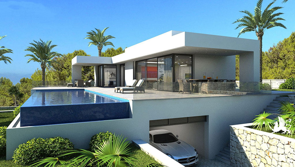 Exterior vila Stirling Ackroyd Spain