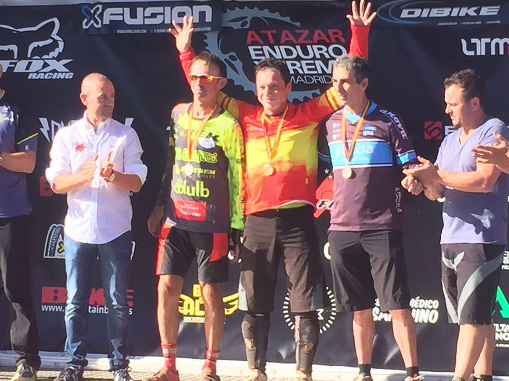 Pepe Domenech on the podium of the national