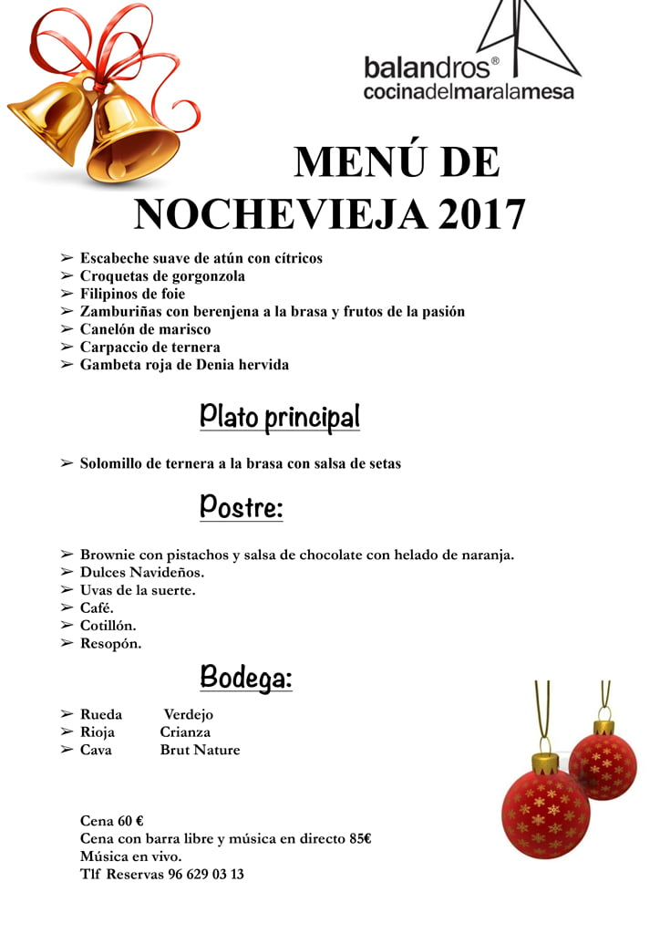 Men de nochevieja 2017 balandros d for Menu nochevieja facil