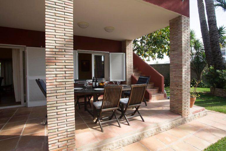 Terrassa amb mobles Aguila Rent a Vila