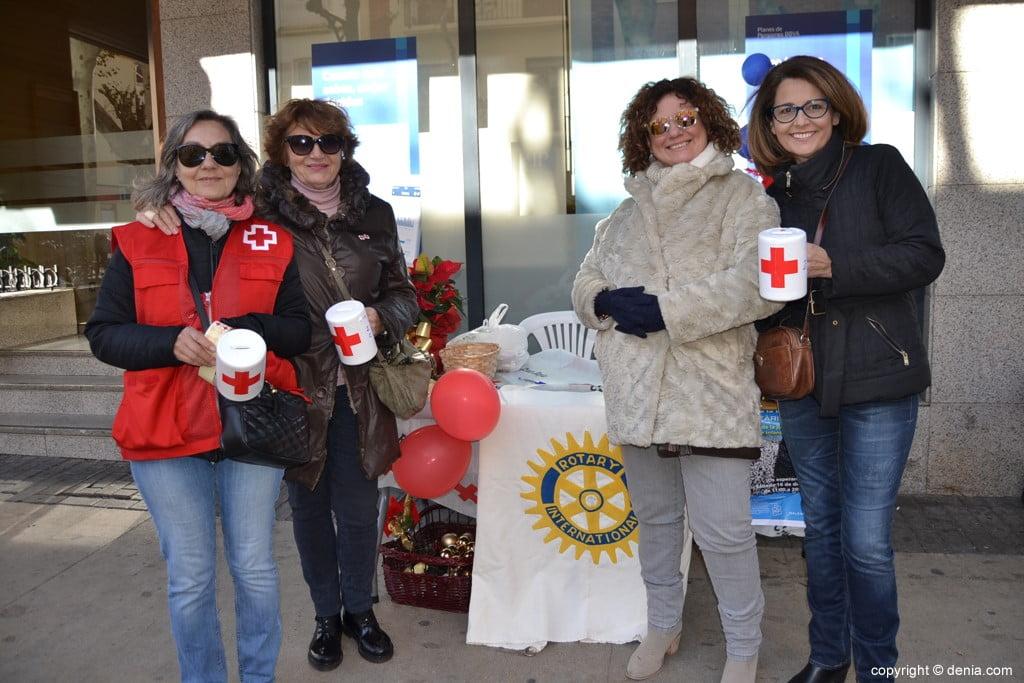 Day of the Dénia 2017 Flag - Rotary Club Table