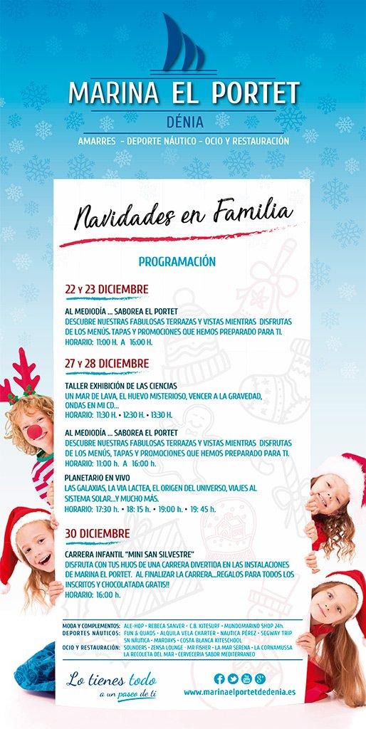 Menu De Noel Pour Famille Nombreuse.Noel Arrive A Marina El Portet Avec De Nombreuses Activites