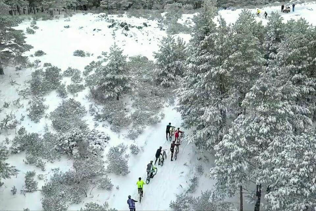 La nieve protagonista de la carrera