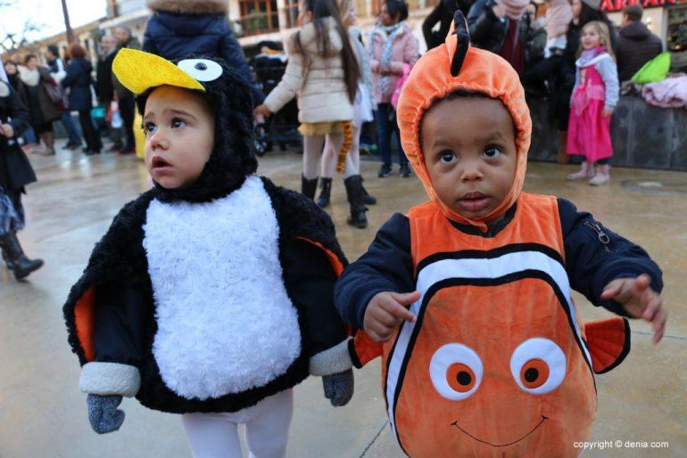 Carnaval infantil Dénia 2018 - Nemo y pingüino