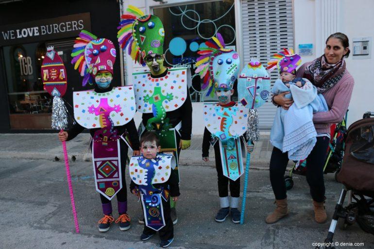 Carnaval infantil Dénia 2018 - Tribu Azteca