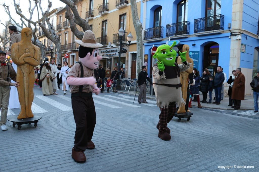 Carnaval infantil Dénia 2018 – Tadeo Jones y Shreck