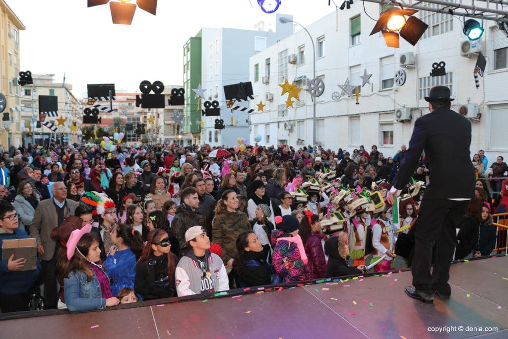 Carnaval infantil Dénia 2018 – Desde el escenario