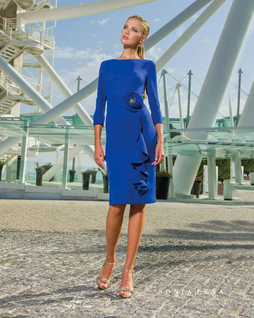 Dress in blue Sonia Peña Kabah Boutique