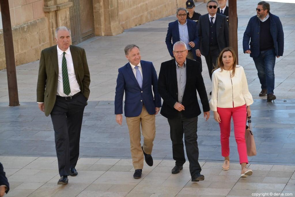 Inauguració de l'escala del Duc de Lerma - Arribada del delegat del Govern