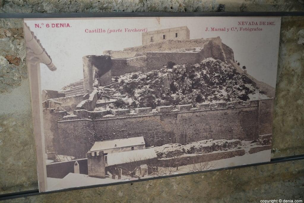 Inauguració de l'escala del Duc de Lerma - el castell nevat a 1907