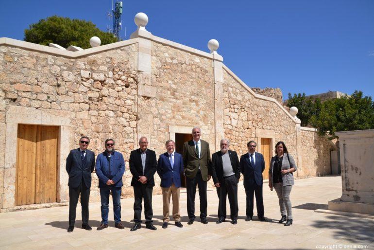 Inauguració de l'escala de l'Duc de Lerma - autoritats i arquitectes