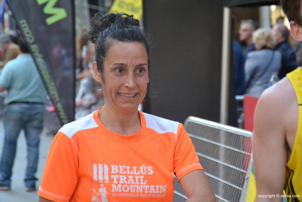 Ana Alberola tras entra en meta