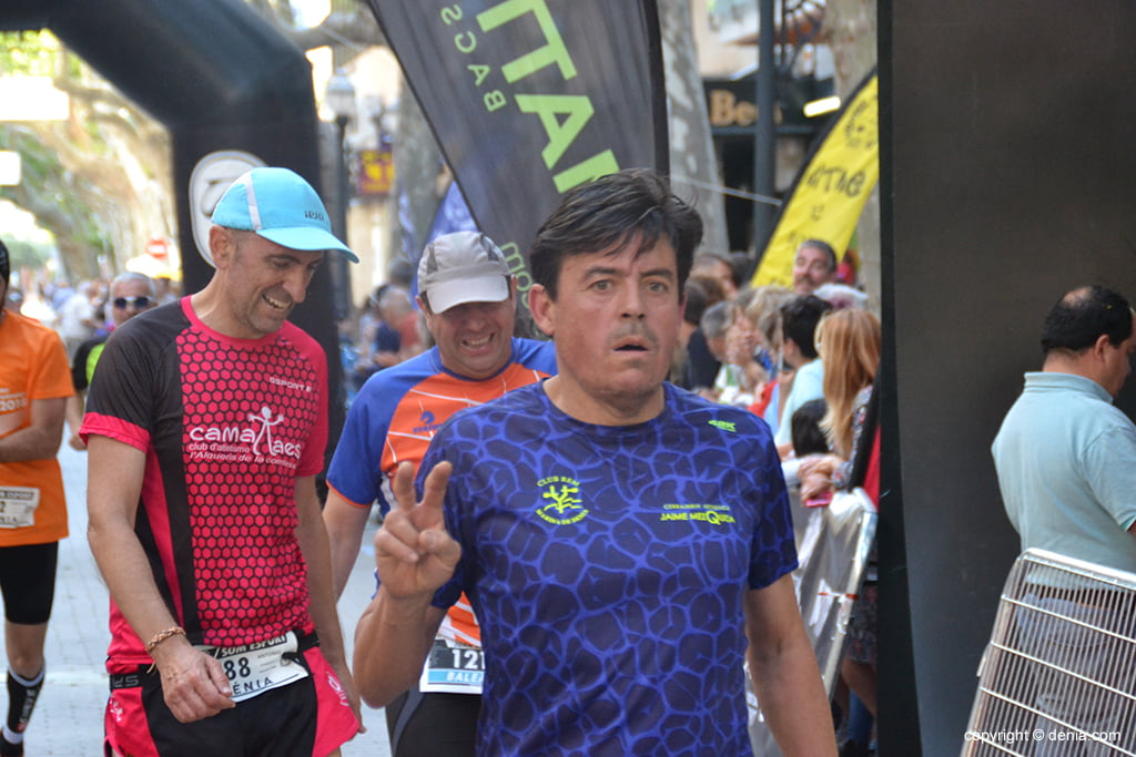 Jaime Mezquida after entering the finish line